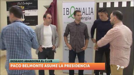 Paco Belmonte, nuevo presidente del FC Cartagena