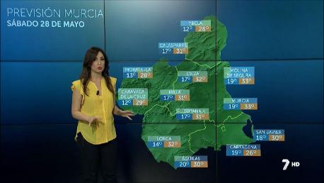 La Región alcanzará el sábado los 34º y el domingo bajarán las temperaturas