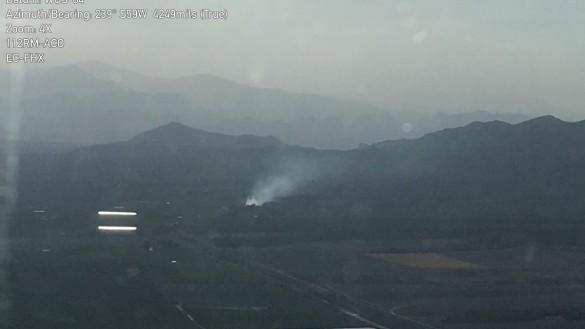 Efectivos de Infomur trabajan en la extinción de un incendio forestal en Calasparra