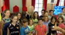 Laura Gil brinda su medalla a Murcia