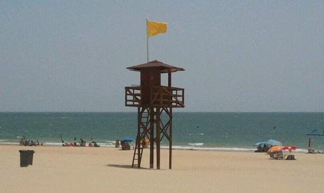 Bandera amarilla en playas de Águilas, Cartagena y Lorca