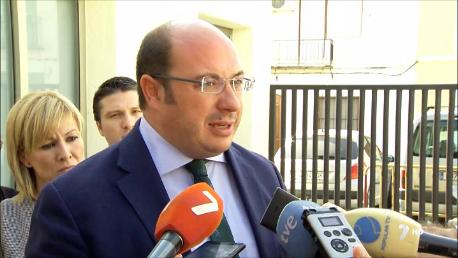 """Pedro Antonio Sánchez garantiza que el Gobierno regional """"no va a fallar"""" a los regantes"""