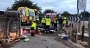 Heridas diez personas al chocar un coche y una furgoneta llena de trabajadores en Torre Pacheco