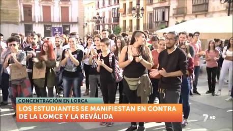 Seguimiento masivo de la huelga de estudiantes en la Región de Murcia