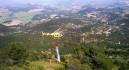 Bomberos controlan un incendio forestal en Caravaca provocado por la caída de un rayo