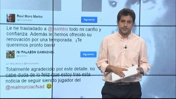 El Real Murcia renueva a Isi a pesar de la lesión