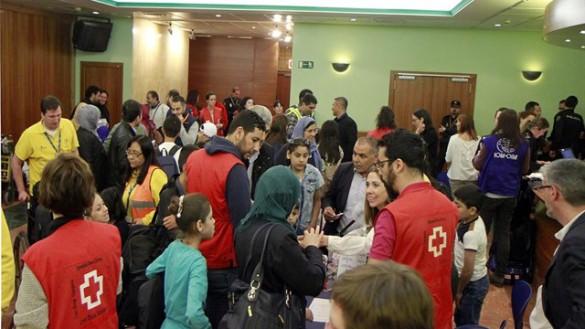 Llegan a España 8 refugiados sirios que serán acogidos en Murcia