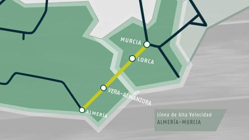 Adif encarga la redacción de proyectos de cinco tramos de la Alta Velocidad entre Murcia y Almería