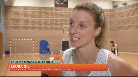 La campeona Laura Gil ha entrenado en el Palacio de los Deportes de Murcia