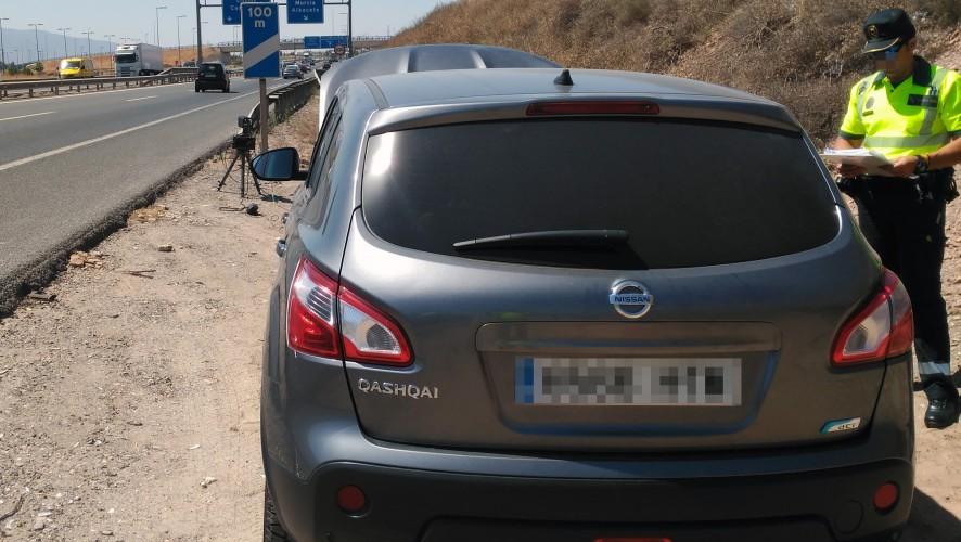 Detenido un joven por conducir a casi 180 km/h en el acceso a Cartagena
