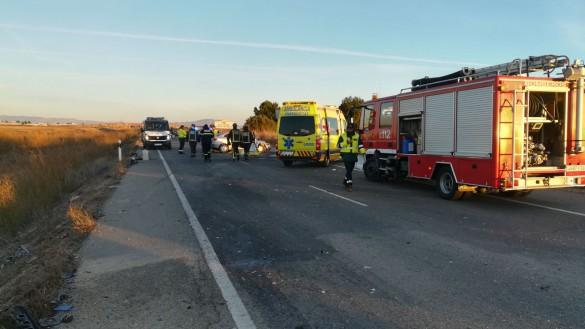 Dos fallecidos y ocho heridos en un choque entre dos vehículos en Torre Pacheco