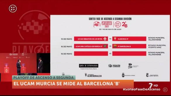 El UCAM Murcia se enfrenta al Barça B en las semifinales de ascenso a Segunda