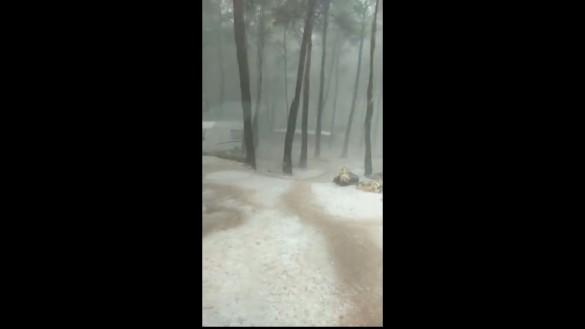 Moratalla vuelve a sufrir una tormenta de granizo