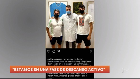 """La lesión de Carlos Alcaraz """"no es nada grave"""" y volverá a jugar en pocos días"""
