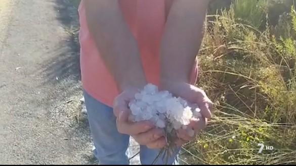 Una granizada provoca daños en los cultivos y un corte de luz de 6 horas en el Noroeste