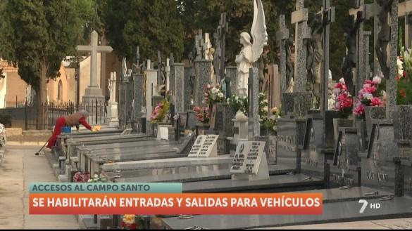 Los cementerios de la Región: 75% de aforo, mascarilla y prohibido fumar