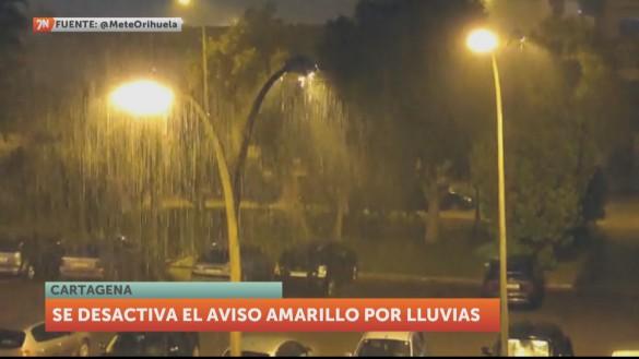 Las lluvias dejan hasta 25 l/m² en las últimas horas en San Javier