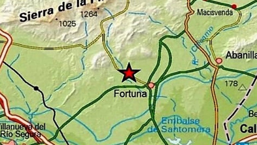 Fortuna registra un terremoto de magnitud 2,4, el segundo esta semana